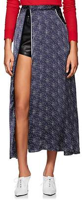 Marine Serre Women's Moon-Print Silk Skirt