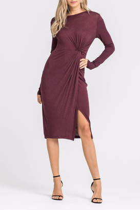 Lush Knotted Front Dress