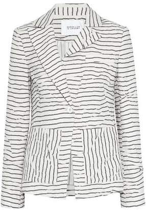 Derek Lam 10 Crosby Crinkled Striped Twill Jacket