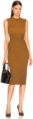 Victoria Beckham Sleeveless Crewneck Dress in Amber & Navy | FWRD