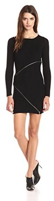Design History Women's Merino Wool Zipper Detail Sweater Dress $66.03 thestylecure.com