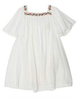 Bonton Gril Embroided Crepe Dress