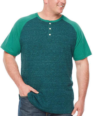 Co THE FOUNDRY SUPPLY The Foundry Big & Tall Supply Short Sleeve Raglan Sleeve Henley Shirt-Big and Tall