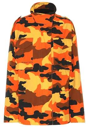 Off-White M-65 camouflage cotton jacket