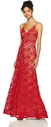 Dar Lin Bee Darlin Junior's Spaghetti Strap V Neck Long Prom Dress with Slit