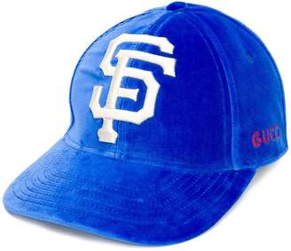 Gucci logo embroidered cap