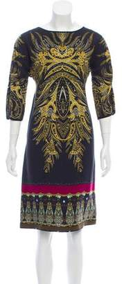 Etro Printed Knee-Length Dress