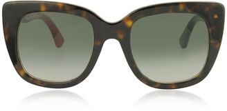 Gucci Squared-frame Optyl Sunglasses w/Web Temples