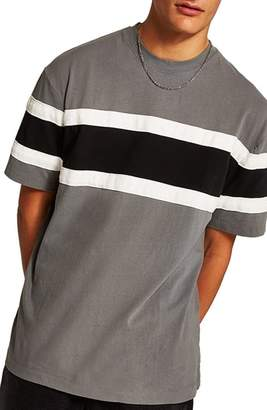 Topman Oversize Colorblock T-Shirt