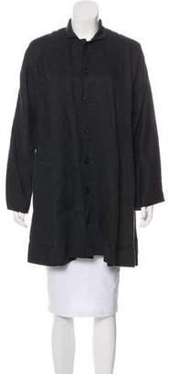 eskandar Collared Knee-Length Coat