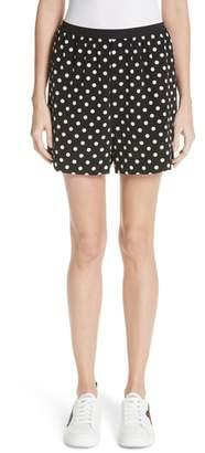 Marc Jacobs Polka Dot Silk Shorts