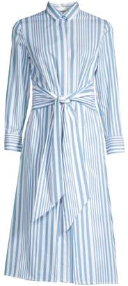 BOSS Debrana Cotton Stripe Shirtdress
