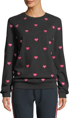 Zoe Karssen You'll Do Embroidered Pullover Sweatshirt
