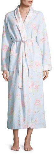 Carole HochmanCarole Hochman Quilted Floral Robe