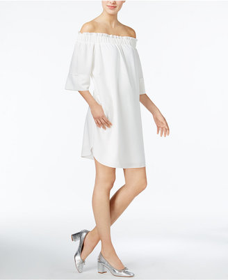 Rachel Rachel Roy Smocked Off-The-Shoulder Dress, Created for Macy's $109 thestylecure.com