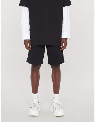 Off-White Branded cotton-jersey shorts