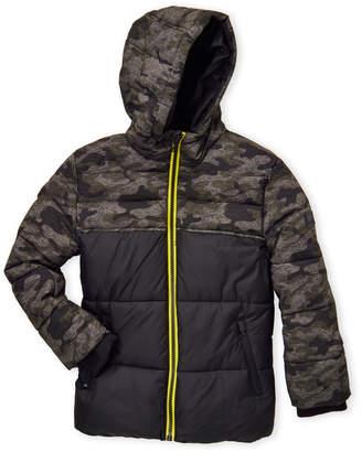 Michael Kors Boys 8-20) Camouflage Hooded Puffer Coat
