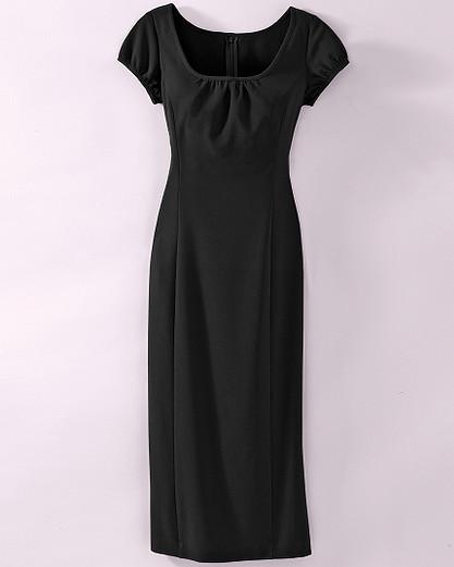 Shirred-neck dress