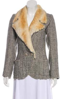 Ungaro Fur-Trim Embellished Jacket