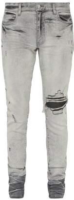 Amiri Broken Skinny Jeans - Mens - Light Grey