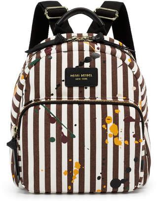 Henri Bendel Splatter Paint Canvas Mini Backpack