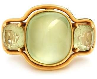 Brigid Blanco - Prehnite, Beryl & Yellow Gold Ring - Womens - Green