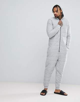 Asos DESIGN hooded onesie quilted
