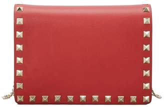 Valentino Gavarani studded clutch with chain