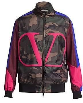 Valentino Men's Colorblock Camo Jacket