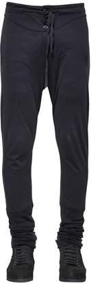 Ann Demeulemeester Cotton & Silk Jersey Pants