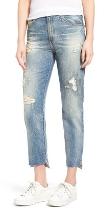 Women's Ag 'The Phoebe' High Rise Slim Straight Leg Jeans $255 thestylecure.com