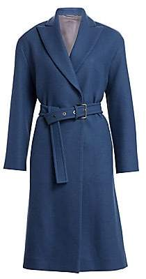 Brunello Cucinelli Women's Stretch Wool Military Belted Coat