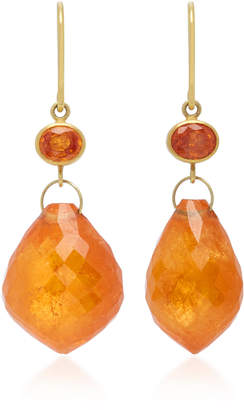 """Mallary Marks Apple & Eve 18K Gold"""" Sapphire and Briolette Earrings"""