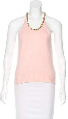Michael Kors Cashmere Sleeveless Top Pink Cashmere Sleeveless Top