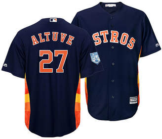 Majestic Men Jose Altuve Houston Astros Spring Training Patch Replica Cool Base Jersey