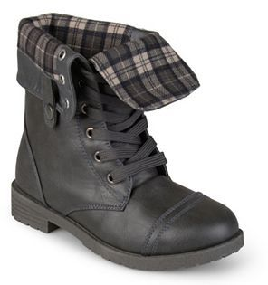 Journee Collection Duke Girls' Fold-over Combat Boots $69.99 thestylecure.com