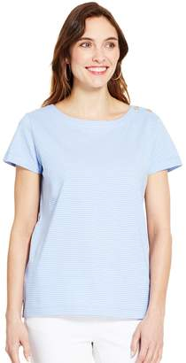 Izod Women's Button-Shoulder Boatneck Tee