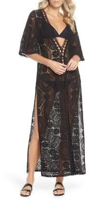 Chelsea28 Lace Cover-Up Maxi Dress