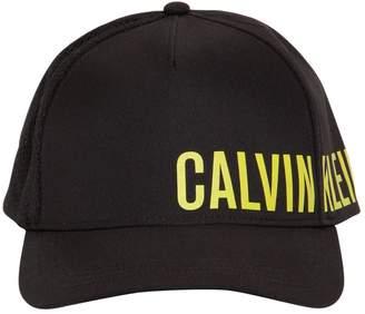 Calvin Klein Underwear Logo Fabric & Mesh Trucker Hat