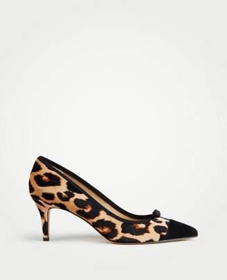 Ann Taylor Maisie Velvet Bow Pumps