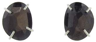 Melissa Joy Manning Brown Sapphire Freeform Earrings - Sterling Silver