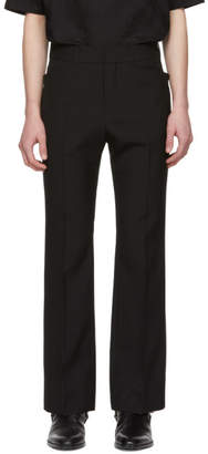 Saint Laurent Black Wool Flare Trousers