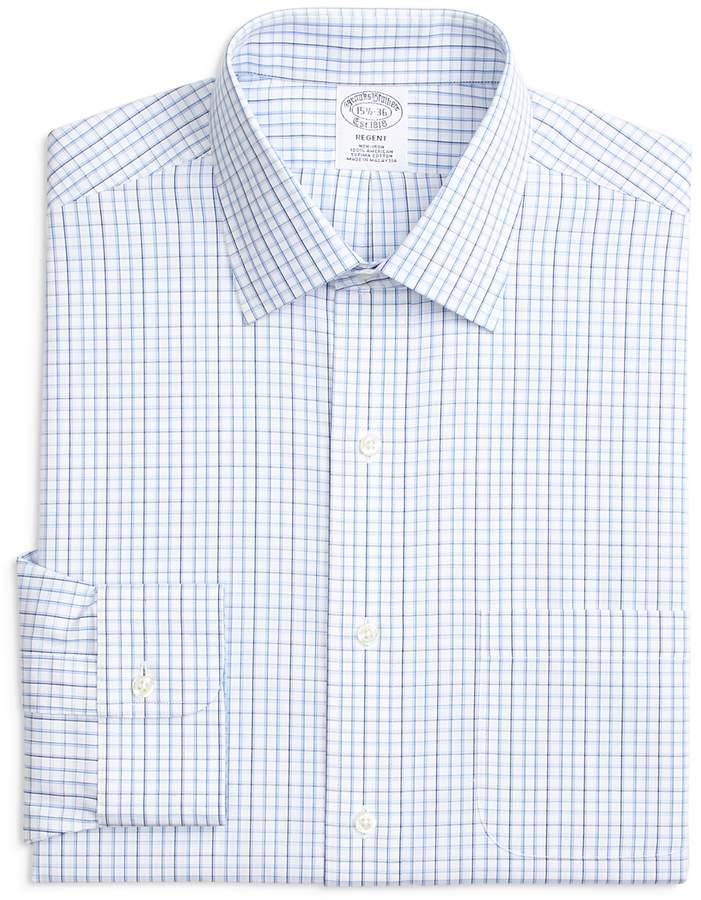 Tonal Windowpane Check Regular Fit Dress Shirt