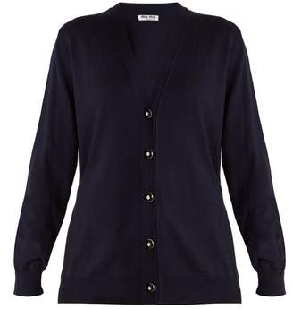 Miu Miu V-neck tie-back wool cardigan