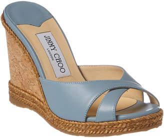 Jimmy Choo Almer 105 Leather Wedge Sandal