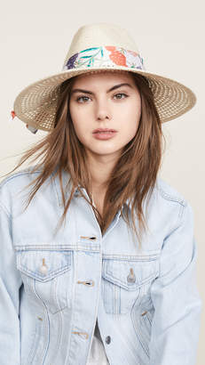 Kate Spade Caning Long Brim Fedora Hat