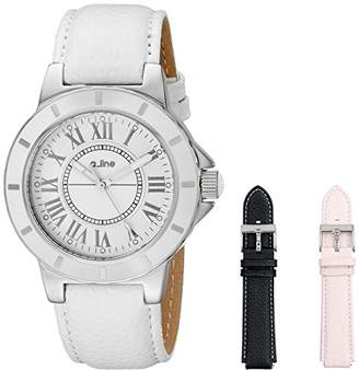 A Line a_line Women's AL-20010-SSET Marina Watch with Interchangeable Leather Bands