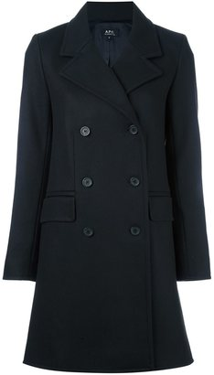A.P.C. double breasted coat $481.79 thestylecure.com