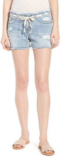 True Religion Brand Jeans Fashion Distressed Denim Shorts