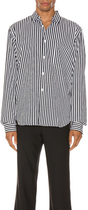 Comme des Garcons Exaggerated Long Sleeve Shirt in H Pattern | FWRD